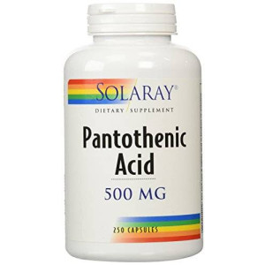 Solaray Pantothenic Acid Capsules, 500 mg, 250 Count
