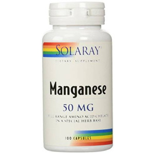 Solaray Manganese Supplement, 50 mg, 100 Count