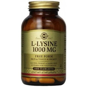 Solgar L-Lysine Tablets, 1000 mg, 100 Count