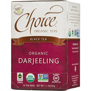 Choice Organic Darjeeling Black Tea, 16 Count Box