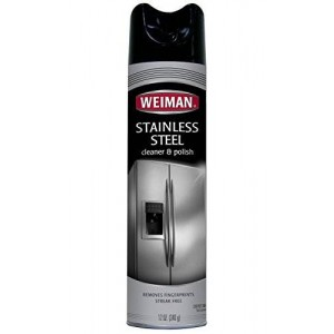 Weiman Stainless Steel Aerosol Cleaner, 12 Ounce