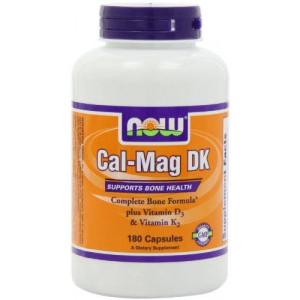 NOW Foods Cal-Mag DK, 180 Capsules,