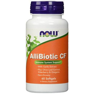 NOW Foods Allibiotic, 60 Softgels
