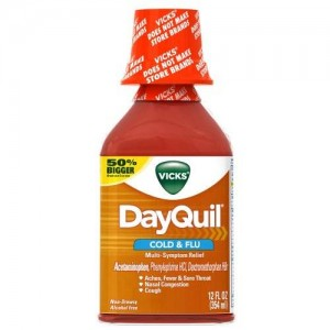 Vicks DayQuil Cold and Flu Relief Liquid 12 Fl Oz