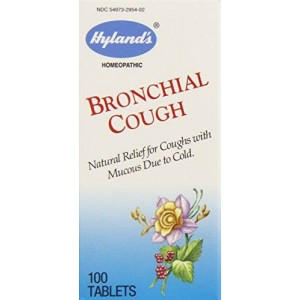 Hyland's Homeopathic Hyland's Bronchial Cough Relief Tablets, Natural Homeopathic Relief of Coughs Due to Colds, 100 Count (Pack of 3)