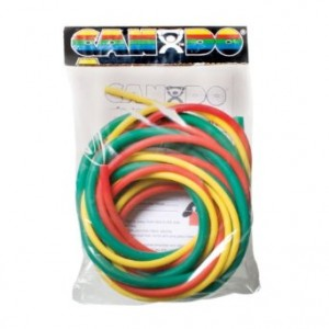 Cando 10-5382 Green/Blue/Black Low-Powder Exercise Tubing PEP Pack, Moderate Resistance