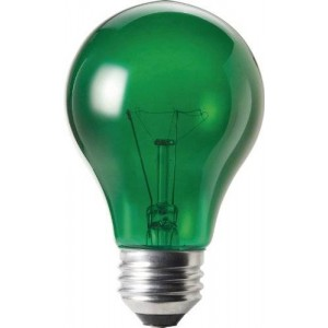 Philips 144212 25-Watt A19 Light Bulb, Transparent Green