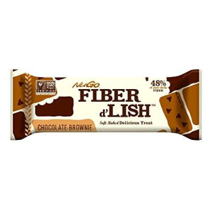 Gnu Foods FiberLove NuGO Fiber d'Lish Nutritional Chocolate Brownie Bar, 16 Count