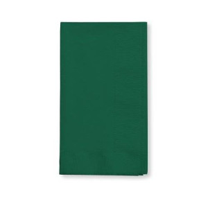 Creative Converting Touch of Color 2-Ply 50 Count Paper Dinner Napkins, Hunter Green