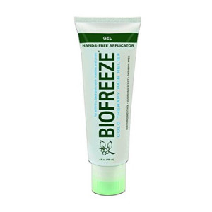 Bio Freeze Biofreeze Pain Reliever Gel, 4 Ounce Tube with Hands Free Applicator Tip, Original Green Formula