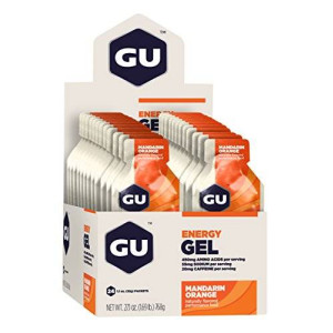 GU Energy Labs GU Original Sports Nutrition Energy Gel, Mandarin Orange, 24-Count