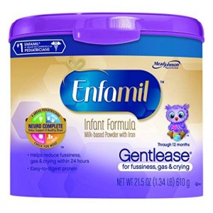 Enfamil Gentlease Baby Formula - 21.5 oz Powder in Reusable Tub
