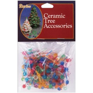 "Notions - In Network Ceramic Christmas Tree Bulb .25"" 250/Pkg-Mini Globe-Multi"