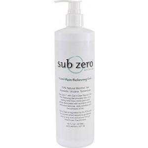 Subzero Sub zero LZ1665 Cool Pain Relieving Gel, Bottle with Pump, 16 oz, Clear