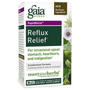 Gaia Herbs Rapidrelief Reflux Relief Tablets, 45 Count