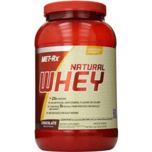 MET-Rx 100% Natural Whey, Chocolate, 2 Pound