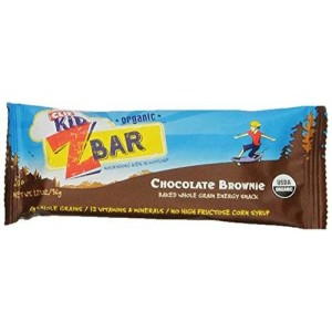 CLIF KID ZBAR - Organic Energy Bar - Chocolate Brownie - (1.27 oz, 18 Count)