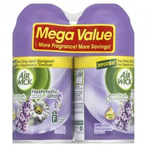 Air Wick Freshmatic Automatic Spray Refill Air Freshener, Lavender and Chamomile, 2 Refills, 6.17oz