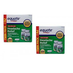 Equate Extra Strength Headache Relief 2-Pack (400 caplets) Compare to Excedrin Extra Strength