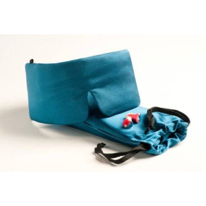 Revolutionary, Patented SLEEP MASTER DELUXE tm Sleep Mask - Featuring Earplugs Storage Pocket and Carry Pouch
