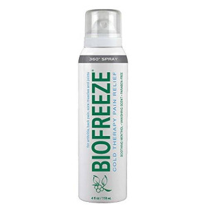 Bio Freeze Cold Therapy Pain Relief 360 Degree Spray, 4 Ounce