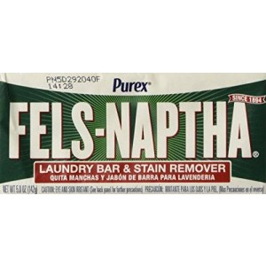 Fels Naptha Laundry Soap Bar and Stain Remover - Pack of 2