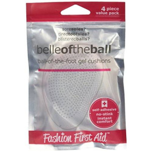 Fashion First Aid Belle of the Ball: Ball of Foot Gel Cushions, 4 Pcs Clear