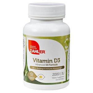 Advanced Nutrition Zahler Zahler Vitamin D3 (Cholecalciferol) 2000IU