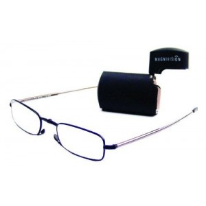 Foster Grant MicroVision Gideon Compact Reading Glasses, Black, +1.00