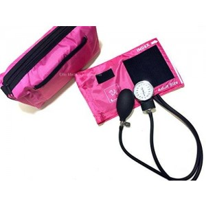 Elite Medical Instruments EMI PINK Deluxe Aneroid Sphygmomanometer Blood Pressure Monitor