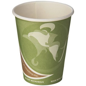 ECO. Eco-Products ECOEPBRHC12EWPK Evolution World PCF Hot Cups, Post-Consumer Fiber, Recycled, 12 oz (Pack of 50)