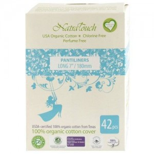 "Natratouch 7"" Length Organic Cotton Panty Liners 42 piece (super)"