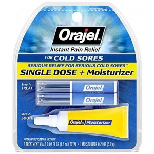 Orajel Single Dose Cold Sore Treatment Plus Moisturizer, 0.04 Fluid Ounce