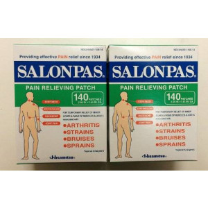Salonpas Pain Relieving Patch, 140 Patches x 2pk
