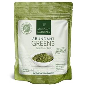 Abundant Naturals Raw ORGANIC Green Superfood Powder