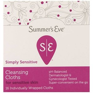 Summer's Eve Cleansing Cloths, Simply Sensitive, 16 Individually Wrapped Cloths (Pack of 12)