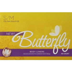 Butterfly Pads / Body Liners for Bowel Leaks - Women's S/M 48 Count