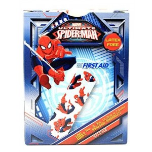 Marvel Children's Adhesive Bandages - Spiderman - Box of 100
