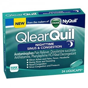 Vicks QlearQuil Nighttime Sinus and Congestion Relief 24 Count