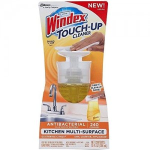Windex Touch-Up (2 Pack) Antibacterial Multi-Surface Cleaner, Glistening Citrus, 10 Fl. Oz. Each