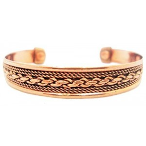 DOTP Men's Women Pure Magnetic Copper Bracelet Arthritis Healing Therapy Cuff Golf Bangle Mcb2