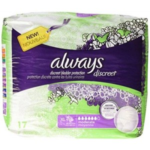 Always Discreet Incontinence Underwear, Moderate Absorbency - 17 ct