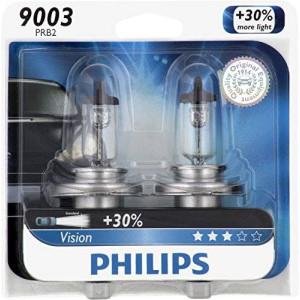 Philips 9003 Vision Upgrade Headlight Bulb (Pack of 2)