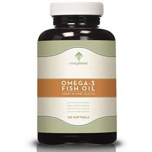 Omegaboost Omega-3 Fish Oil (120 Capsules - 1250mg - Softgel) Lemon Flavored