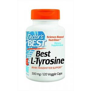 Doctor's Best L-Tyrosine Supplement, 120 Count