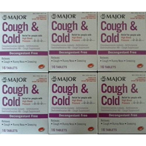 Coricidin Hbp Cough and Cold HBP Antihistamine Cough and Cold Suppressant Tablets for People with High Blood Pressure