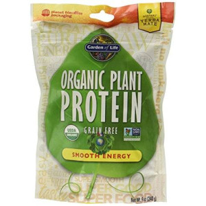 Garden of Life Organic Plant Protein Smooth Energy Powder, 240 Gram