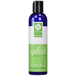 Sliquid Organics Splash Balance Gentle Feminine Wash [Honeydew Cucumber]: Size 8.5 Oz.