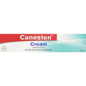 20g Canesten Cream Clotrimazole 1% - Treat Fungal Infections of the Skin (Athlete's Foot, Jock Itch, Ringworm, Fungal Nappy Rash, Sweat Rash, Vaginal Thrush)