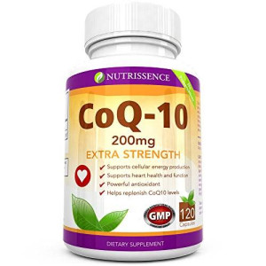 Coq10 200mg 120 Capsules - Extra Strength - Coenzyme Q10 Ubiquinone - Nutrissence - $7.37 a Month - 4 Month Supply